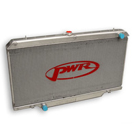 PWR ALUMINIUM RADIATOR, NISSAN GU PATROL, (WIDE VERSION) 4.2 TURBO DIESEL Y61, SUIT MANUAL, 55MM CORE